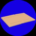 Dry Flattened Cardboard